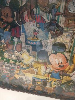 正版迪士尼米奇米妮大型拼圖掛畫(已裱框)