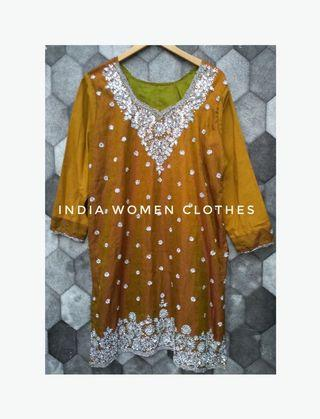India sari blouse women clothes