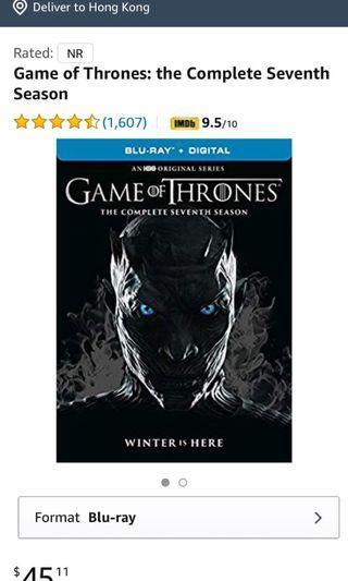 blu ray: Game of Thrones (season 7)