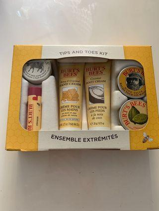 New Burt's Bees tips and toes kit
