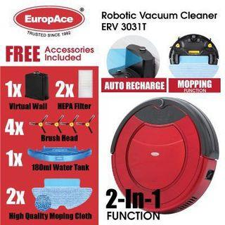 EuropAce 2 in 1 robotic vacuum cleaner With mopping function