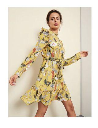 Shein frill dress