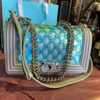 Chanel 18s iridescent boy bag