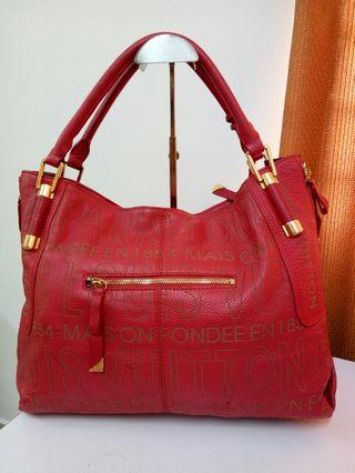 LouisVoitton leather tote bag