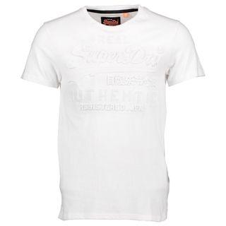 BNWT SUPERDRY VINTAGE AUTHENTIC EMBOSSED TEE WHITE
