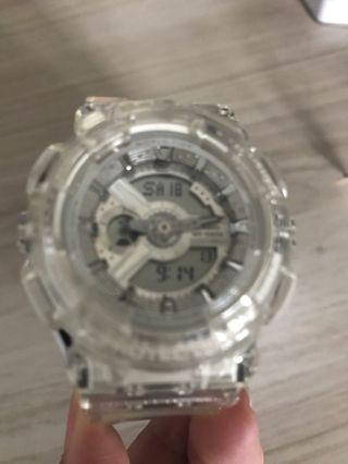 Baby g transparent strap
