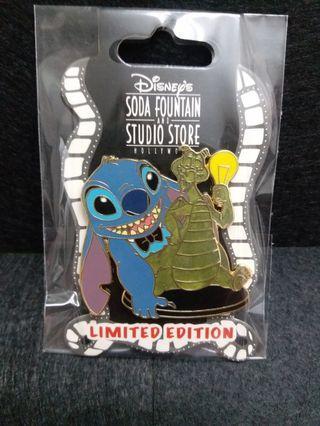 恐龍stitch史廸仔-Disney pin迪士尼襟章