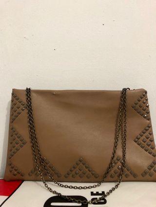 Brown studded bag