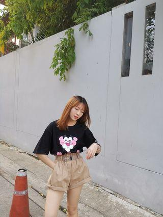 Oversize pink panther + short