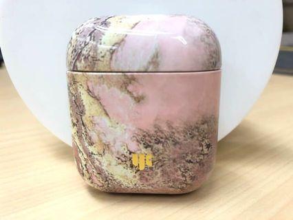 全新粉紅色大理石紋 Airpods 保護套