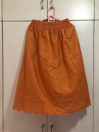 Uniqlo Orange skirt size large