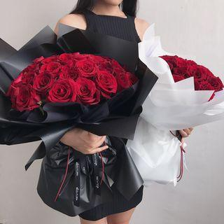 Proposal bouquet | 40 roses | Rose Bouquet | 52 roses | 99 Roses | Birthday Flower Bouquet