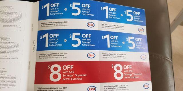 Petrol discount vouchers 50% off