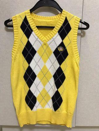 Checkered Yellow knitwear vest