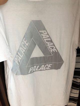 Palace反光白t 9成