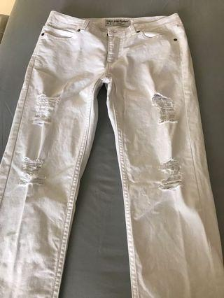 Hush Puppies White Jeans