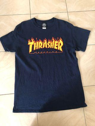 thrasher shirt NAVY SIZE M