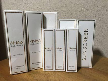 Ainaa Serum, Cleanser & Sunscreen