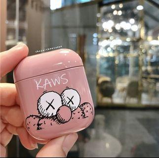 Pink Kaws Elmo Apple Airpods / Airpods 2 Earphone casing