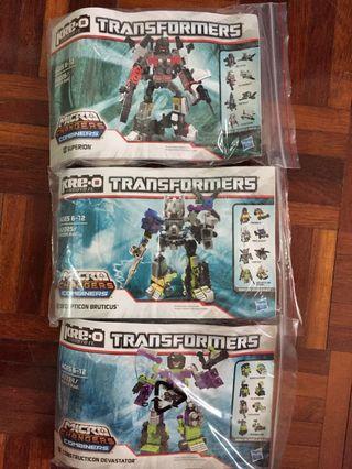 Transformers KREO Combiner Minifigure Devastator Superion Bructicus Set