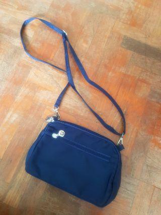 🚚 Navy Blue Nylon Travel Multi-Pocket Sling Bag