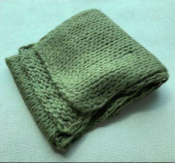 🌬🧶🧣 100%全新 溫暖牌 人手編織 Handmade 時尚 男女合用 棉冷披肩/圍巾/頸巾 Scarf