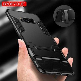 BROEYOUE Armor Hard Case with Kickstand for Samsung Galaxy S9 & S9Plus TItanGadget