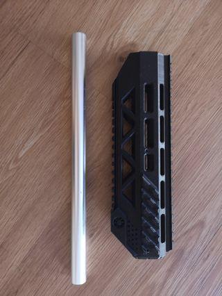 M4 Gen8 Futuristic Handguard 3D Print Water Gel Blaster