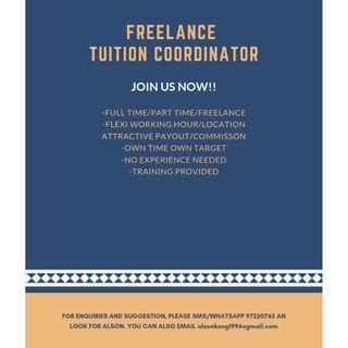 FREELANCE TUITION COORDINATOR (PART TIME) *WORK FROM HOME*