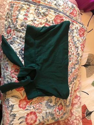 Kookai emerald green tie top