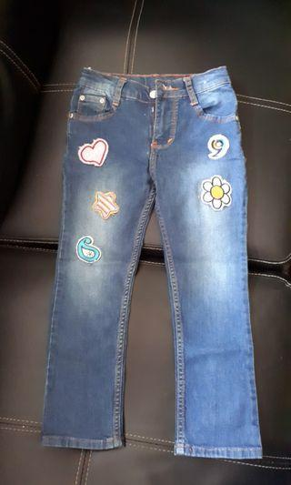 #BAPAU  Celana jeans anak size 7 warna blue navy