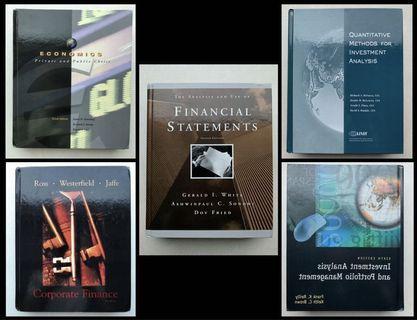 📚💱 99%新 CFA 經濟 Economics 及 財務 Finance 敎科/參考 書籍 Textbooks/Reference Books 共5本