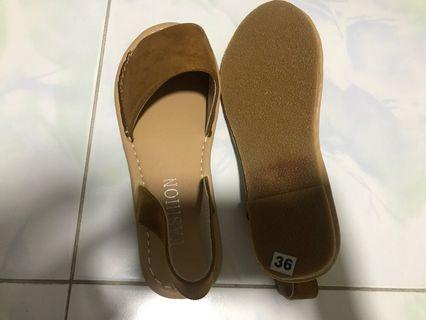 New Peep Toe Slingback Espadrilles Sandals Size 36