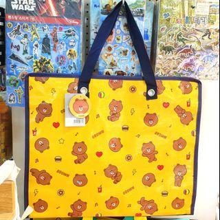 🇰🇷韓國Line Friends Brown Picnic Bag 熊大旅行野餐袋
