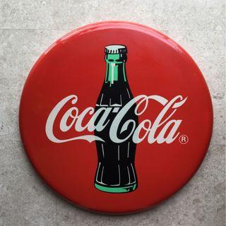 Coca Cola metal button sign