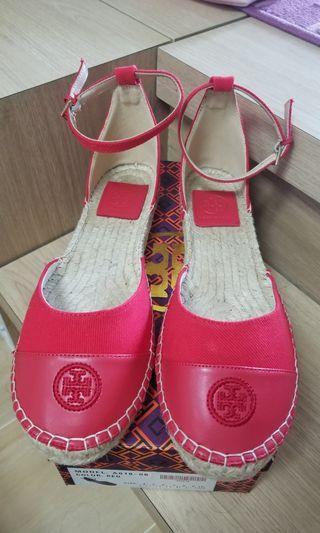 Tory burch 紅色漁夫鞋