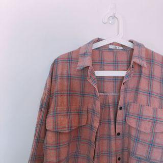 韓妞🇰🇷超美!草莓🍓牛奶粉紅格紋格子襯衫