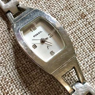 FOSSIL ES 9381 Vintage Original White Dial WR 30M Stainless Steel