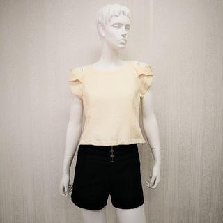 Size M & L Lace Fashion Blouse - Color Beige [Ready Stocks]