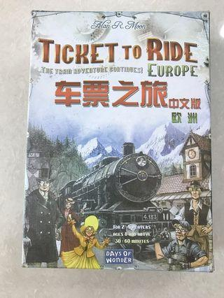 Ticket to Ride, Europe, board game