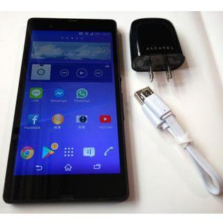<二手良品螢幕無刮傷>黑Sony Xperia Z C6602 1300萬相機 5 吋 安卓4.4 功能正常只要1500
