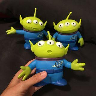 3 pcs Toy story signature collection alien figurine large size 6 inch tall space
