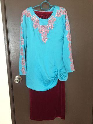 Baju Kurung Moden with matching kain