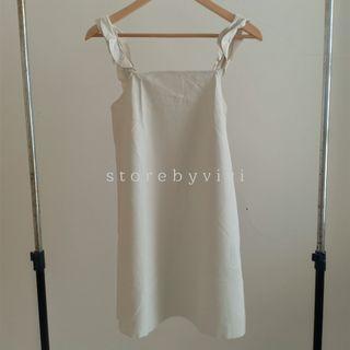Zara Faux Leather Dress White
