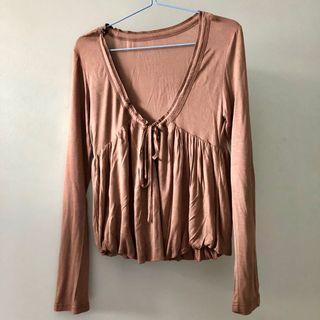 Brown Long Sleeve Cardigan Jacket #MRTJurongEast #MRTRaffles