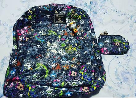 Tokidoki x Overwatch Backpack, coin purse, Shirt