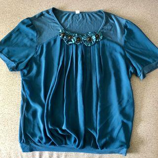 Blue Flower Jewel Blouse | Green Leaf Blouse | Orange Sleeveless Blouse #MRTJurongEast #MRTRaffles