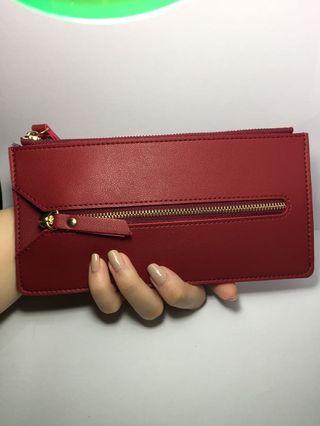 Red wallet / long wallet / multi wallet / key wallet / wristlet