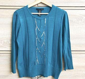 Turquoise Knitted Top