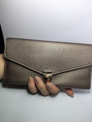 Silver wallet / long wallet / card wallet / envelope wallet